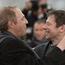 Arnaud Desplechin et Mathieu Amalric - Photocall - Jimmy P. Psychothérapie d'un Indien des Plaines © AFP