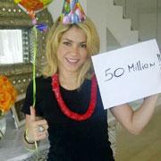 Shakira A 50 Millions De Fans Sur Facebook